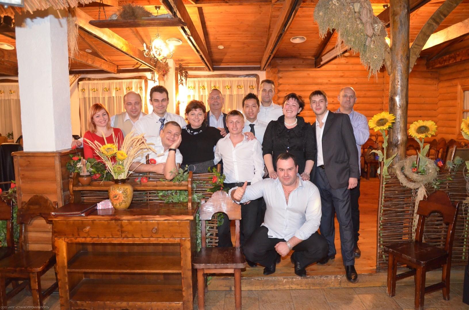 Фуршет в честь выставки: Наша теплая компания и партнеры из Израиля, Тайваня.