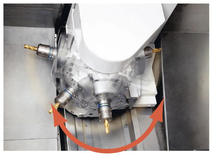 Повототный H1 инструментальный шпиндель 225° (B-ось)