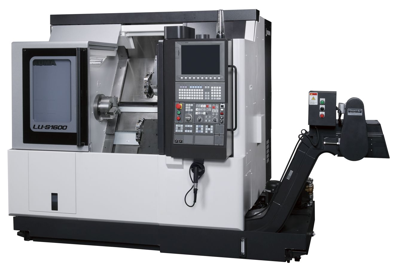 Компактный двухревольверный токарный станок LU-S1600